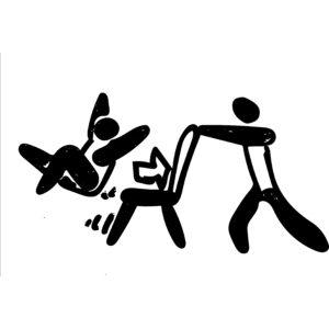椅子引き ピクトグラム